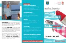 Ausstellung Meersburg, warum schwimmen Fische nachkt?