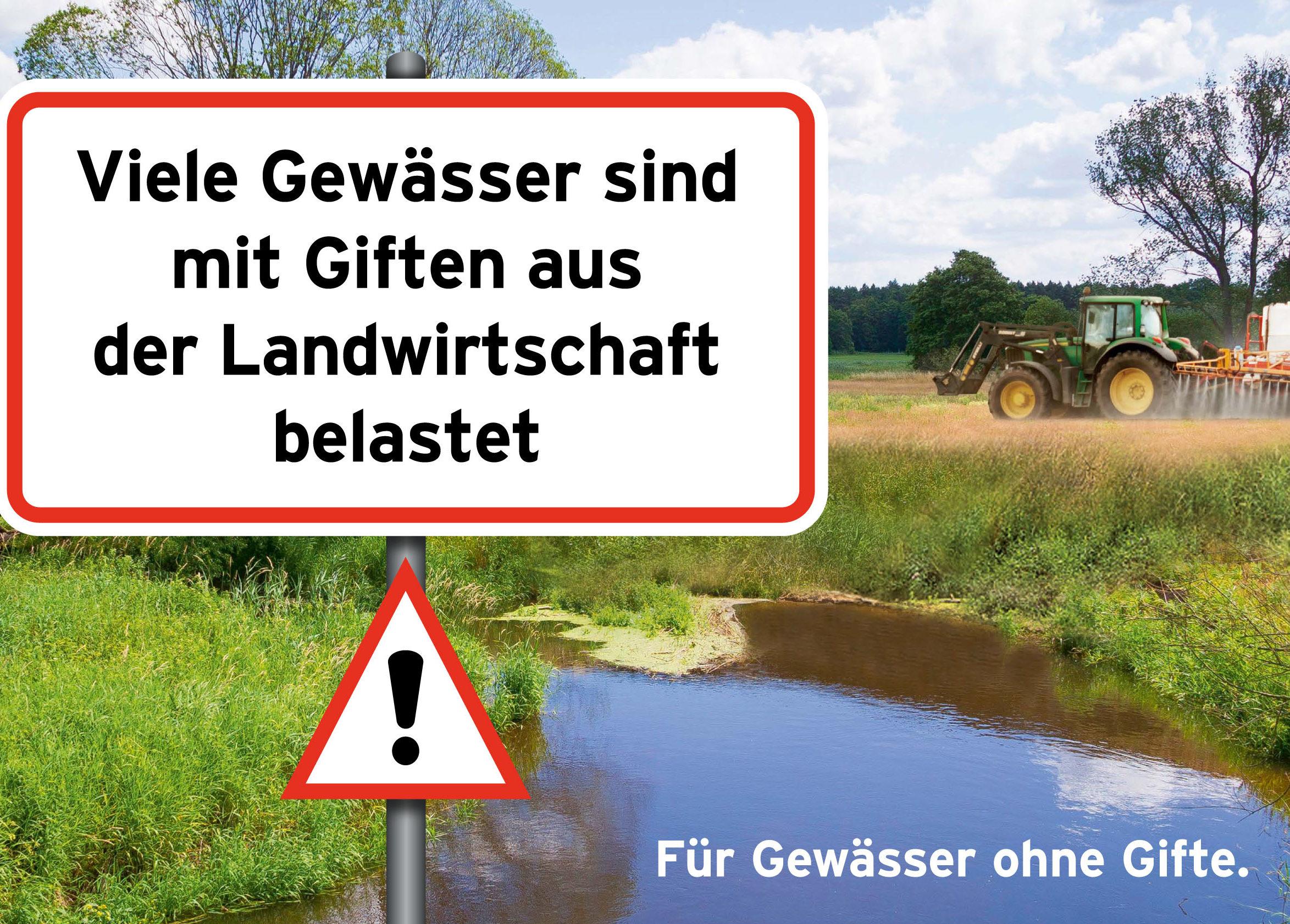 Keine Pestizide, Bauern, Gewässer, Fische, Angeln