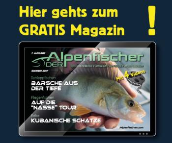 Alpenfischer Sommermagazin, Kostenloses Anglermagazin, Fischermagazin gratis, Fischer, angler, fischen, angeln, Spinnfischen, Fliegenfischen, Grundfischen, Hecht, Barsch, Lachs, Zander