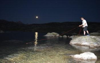 Bergsee fischen, Forellen, fliegenfischen, Angeln, fischen, Alpensee