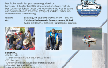 Jungfischertag, Jungischernalass, Fischer, Angler, Fischen, angeln, Sportfischen, Angelkurs, Fischerkurs, Sempachersee