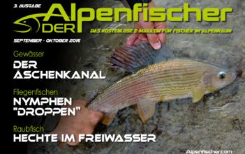 Alpenfischer, Ausgabe September - Oktober, Fischer, Angler, fischen, angeln, Petri-Heil, Petri Heil, ALpenfischer, ALpen fischen, Gratis E-Magazin