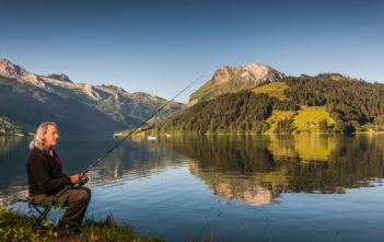 Wägitalersee, fischen, angeln, Fischer, Angler, Alpenfischer, Alpen fischen