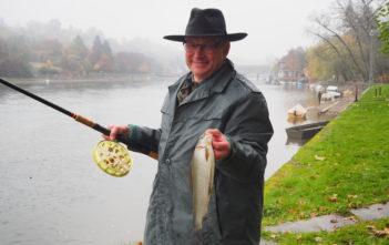 Aeschenfischen, Diessenhofen, Freundschaftsfischen, Alpenfischer, Äschen im Rhein