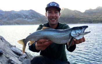 lago del narèt, Namaycush, Tessin Bergsee fischen, Angel im Ticino, Alpenfischer, fischen, angeln