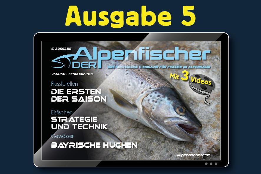 "Gratis Anglermagazin ""Der Alpenfischer"", ausgabe Januar/Februar 2017"