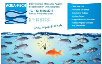 Aqua-Fisch 2017, Medienpartner Aqua-Fisch Der Alpenfischer, Fischereiausstellung, Anglermesse Friedrichshafen, Fischer, Angler