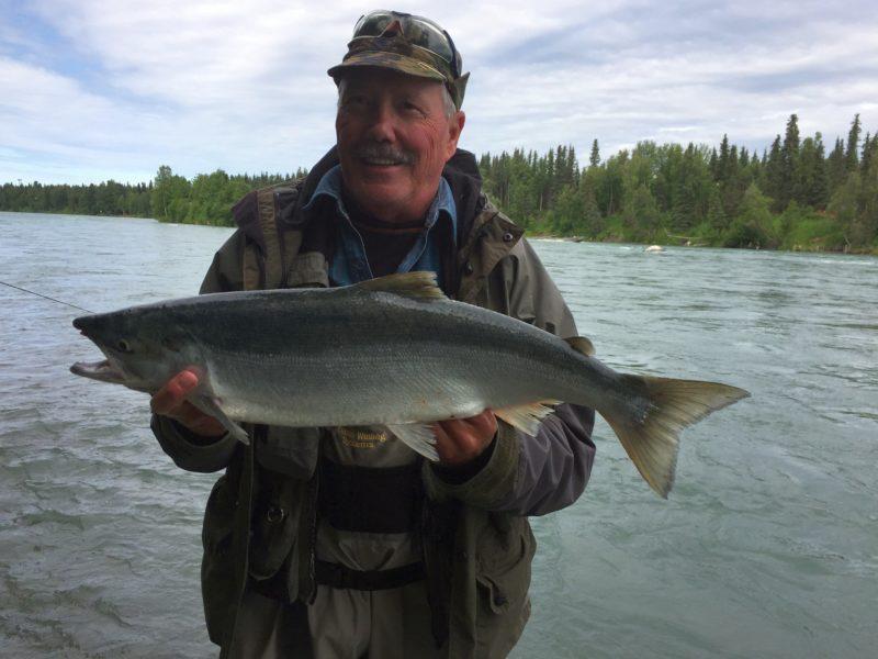 Lachsangeln, ALpenfischer, Alaska angeln, Lachsfischen Alaska, Silberlachs, Angelreise