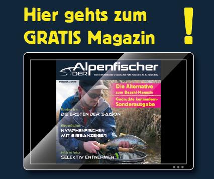 Messemagazin, Gratis Anglermagazin, Kostenloses Fischermagazin, Der Alpenfischer