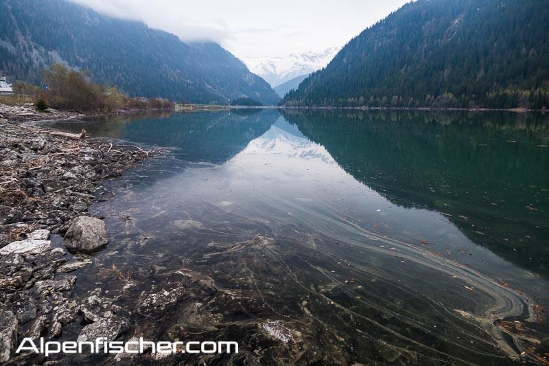 Fischen, Alpenfischer, Sufnersee, Graubünden