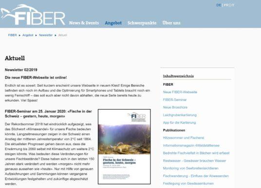FIBER MIT NEUER WEBSITE